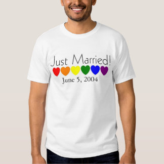 Just married-Date can be changed T-shirt