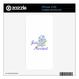 Just Married Decals For The iPhone 4S