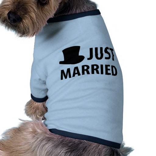just married dog t-shirt