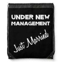Just Married Drawstring Backpack
