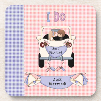 Just Married Drink Coaster