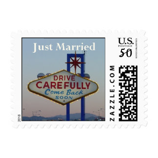 Just Married Drive Carefully Postage