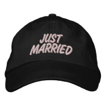Just Married Embroidered Baseball Cap