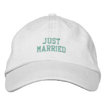 Just Married! Embroidered Baseball Hat