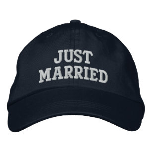 a0a7b9f025c7b JUST MARRIED EMBROIDERED BASEBALL HAT