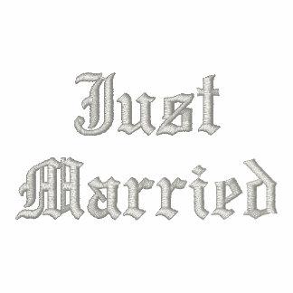 Just Married embroidered black hoodie
