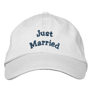 Just Married Embroidered Wedding Hat