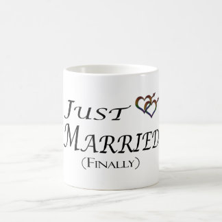 Just Married (Finally) Gay Pride Coffee Mug