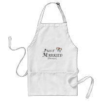 Just Married (Finally) Lesbian Pride Adult Apron