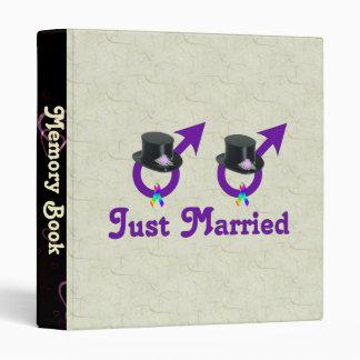 Just Married Formal Gay Male Binder