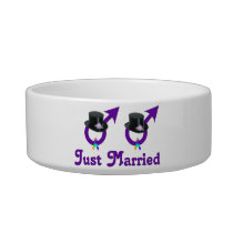Just Married Formal Gay Male Bowl
