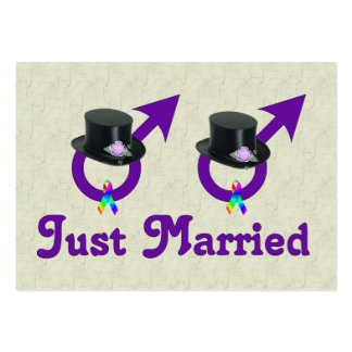 Just Married Formal Gay Male Business Cards