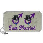 Just Married Formal Gay Male iPod Speaker