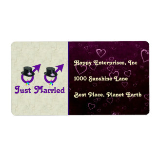Just Married Formal Gay Male Label