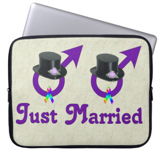 Just Married Formal Gay Male Computer Sleeve