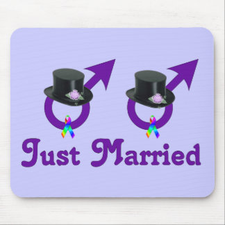 Just Married Formal Gay Male Mouse Pads