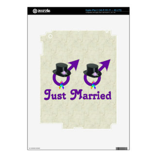 Just Married Formal Gay Male Skin For iPad 3
