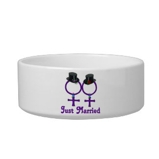Just Married Formal Lesbian Bowl