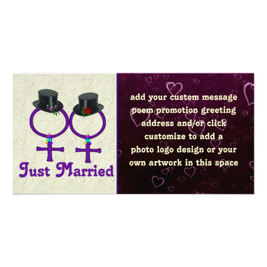 Just Married Formal Lesbian Card