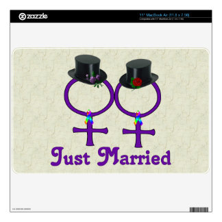 Just Married Formal Lesbian Decals For The MacBook