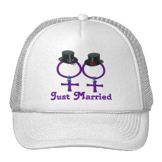 Just Married Formal Lesbian Trucker Hat