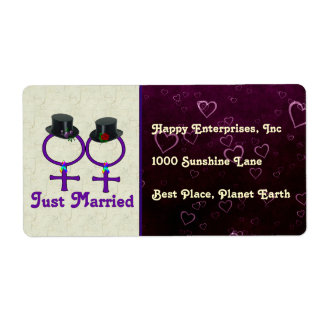 Just Married Formal Lesbian Label