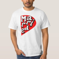 just married.funny couple t shirt set x2