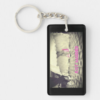 """Just Married"" Funny (double-sided) Keychain"