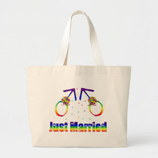 Just Married Gay Men Canvas Bag