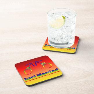 Just Married Gay Men Beverage Coaster