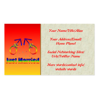 Just Married Gay Men Business Cards