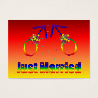Just Married Gay Men Business Card