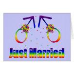 Just Married Gay Men Greeting Card