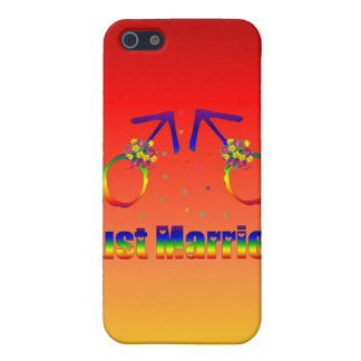 Just Married Gay Men iPhone 5/5S Case