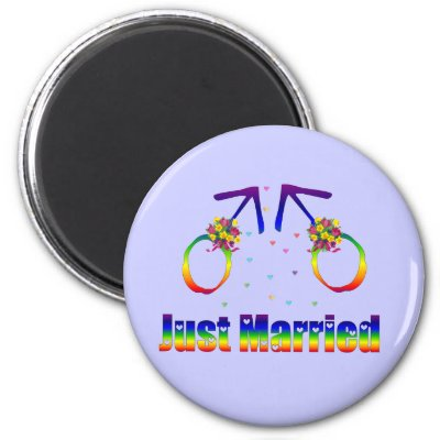 Just Married Gay Men Magnets by orsobear