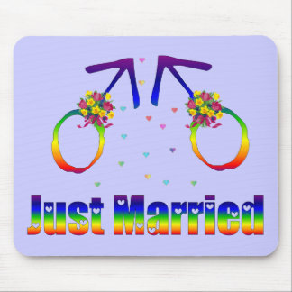 Just Married Gay Men Mouse Mats