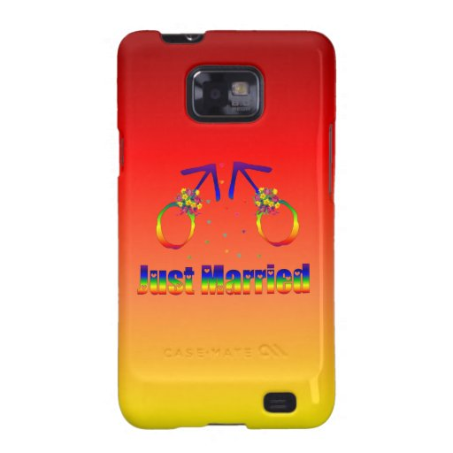 Just Married Gay Men Samsung Galaxy S2 Cases