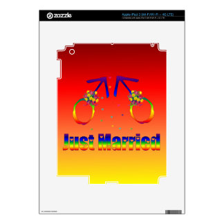 Just Married Gay Men Skin For iPad 3