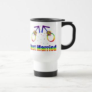 Just Married Gay Men Travel Mug