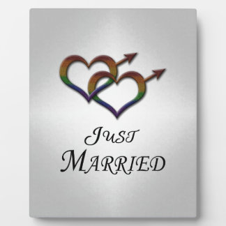 Just Married Gay Pride Plaque