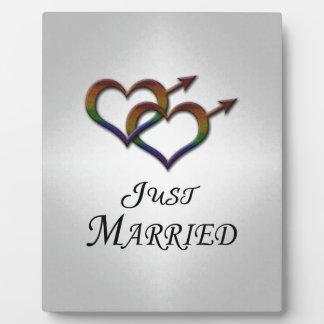 Just Married Gay Pride Display Plaques