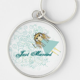 Just Married Get Away Car Key Chains