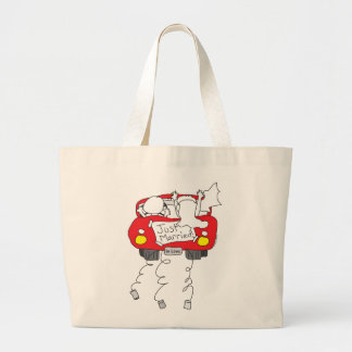 Just Married Gifts and Apparel Large Tote Bag