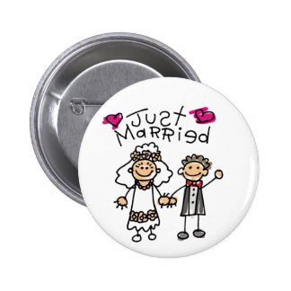 Just Married Gifts Newlywed Gifts Honeymoon Gifts Button