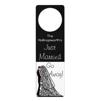 Just Married-Go Away-Bride and Groom Door Hangers
