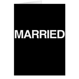 (Just) MARRIED Greeting Card