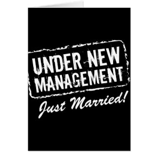 Just Married greeting cards   Under new management