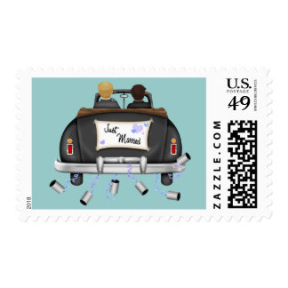 Just Married Groom and Groom Postage