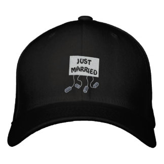 Just Married Groom Customizable Funny Wedding Cap