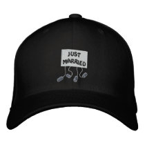 Just Married Groom Customizable Funny Wedding Embroidered Baseball Hat